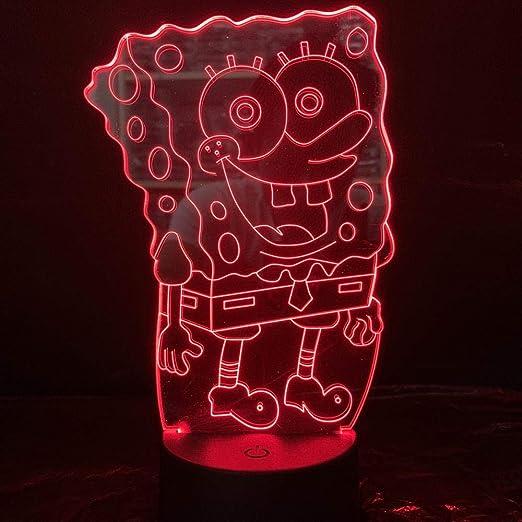 BYSQX Lámpara De Ilusión Óptica De Luz Nocturna Led 3D-Bob ...