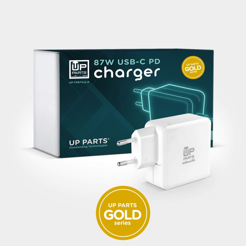 UP PARTS/® UP-TP871LA-A Alimentatore USB-C 87W con cavo di ricarica USB-C Porta USB