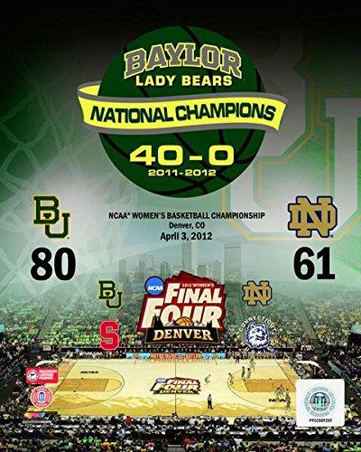 Final Baylor Lady Bears Basketball - Baylor University Lady Bears 2012 NCAA Women's Final Four College Basketball National Champions Composite Photo (Size: 8