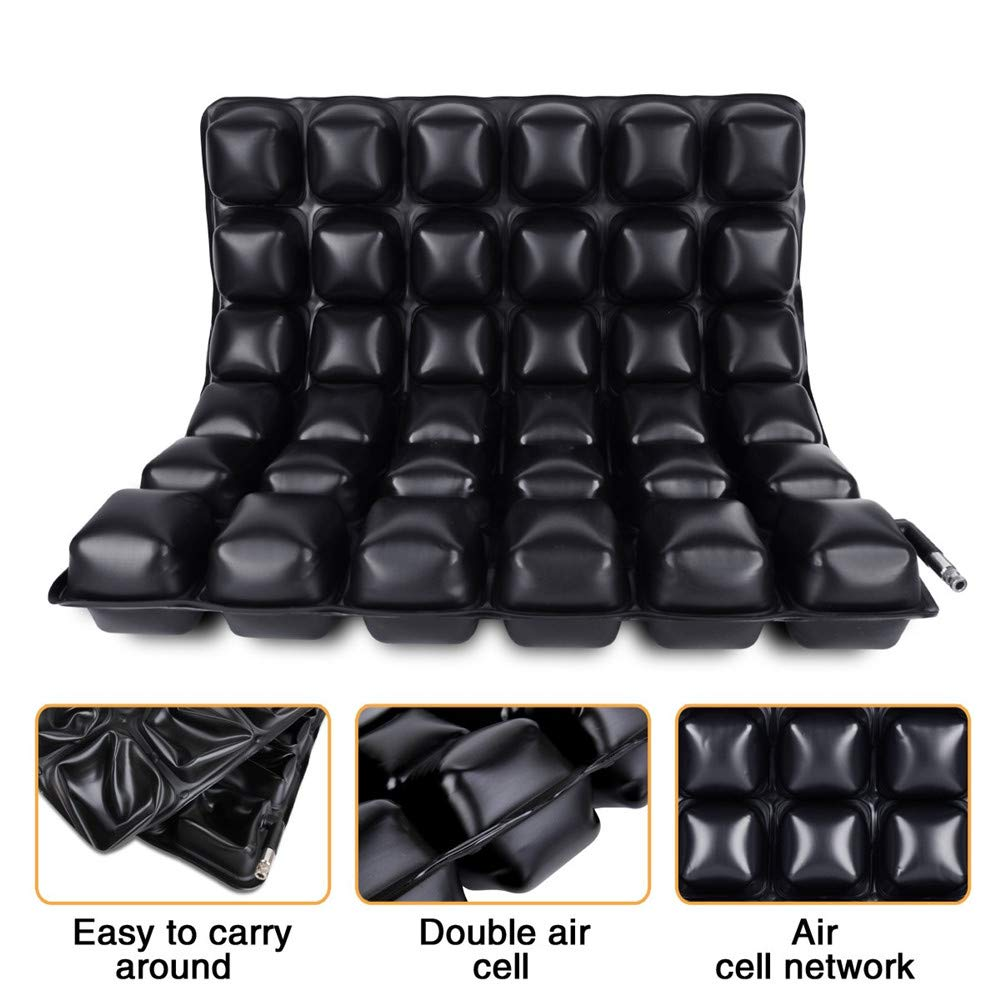 DYHQQ Cojín antiescaras médico para Asientos de Aire para sillas de Ruedas, sillas de Oficina, automóviles, Vivienda y Soporte para el Dolor de ...