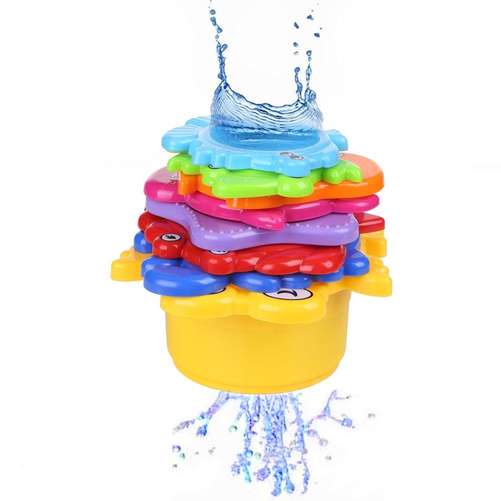 Lesonic Kinder Badewannenspielzeug Set - 8X Stapelbecher mit Einer ...