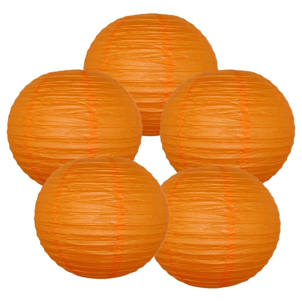 Just Artifacts ペーパーランタン5点セット - (6インチ - 24インチ) 18inch AMZ-RPL5-180043 B01CEX763E 18inch|レッド オレンジ レッド オレンジ 18inch
