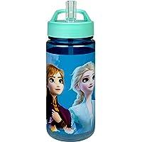 Scooli FRUW9913 Aero drinkfles van kunststof met geïntegreerd rietje en drinkdoppen, Disney Frozen II, vrij van BPA en…