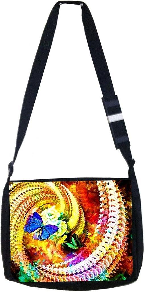 TM Laptop Messenger Bag Butterfly Reflection Rosie Parker Inc