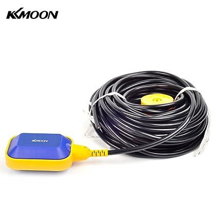 KKmoon 2 m automática (diseño cuadrado interruptor de flotador líquido Sensor de nivel de líquido