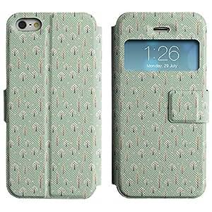 LEOCASE Árboles Alternos Funda Carcasa Cuero Tapa Case Para Apple iPhone 5 / 5S No.1000135