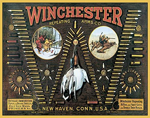 (Desperate Enterprises Winchester - W Bullet Board Tin Sign, 16