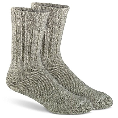 FoxRiver Outdoor Norwegian Crew Heavyweight Wool Socks, Large, Brown Tweed - Fox River Wool Socks
