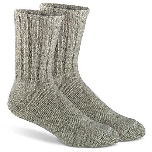 FoxRiver Outdoor Norwegian Crew Heavyweight Wool Socks, Large, Brown Tweed (Fox River Wool Socks)