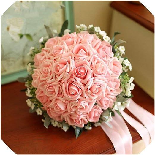 Amazon Com Bridal Bouquet 24 Pieces Of Rose Flower 6 Color