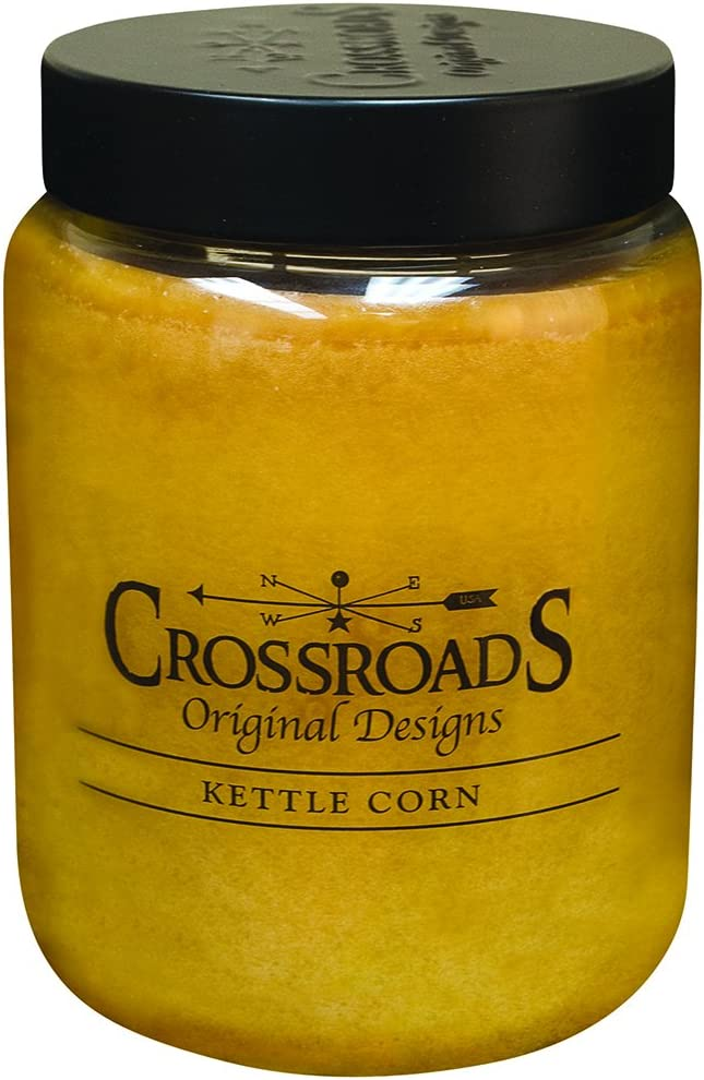 Crossroads Kettle Corn Scented 2-Wick Candle, 26 Ounce