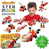 Click-A-Brick Rockin' Racers 100pc Building Blocks Set | Best STEM Toys for Boys & Girls Age 5 6 7 Year Old | Fun Kids 3D Construction Puzzle | Top Educational Learning Gift For Children Ages 5-10