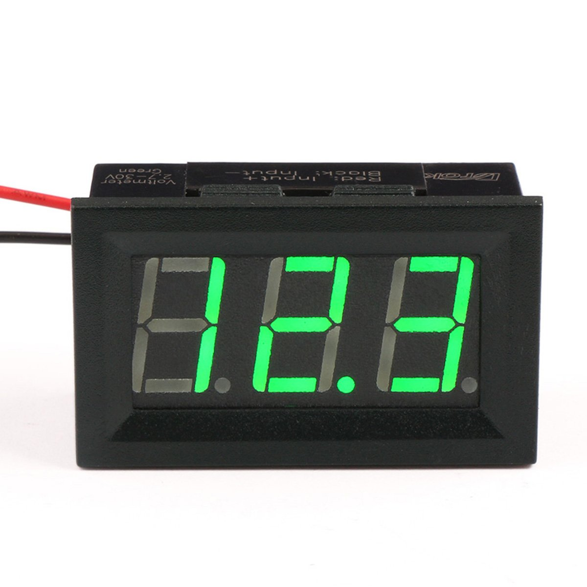Voltmeter Gauges Automotive Voltage Indicator Drok 056 Dc 3 30v Digital Tester Gauge Green Bright Led Display