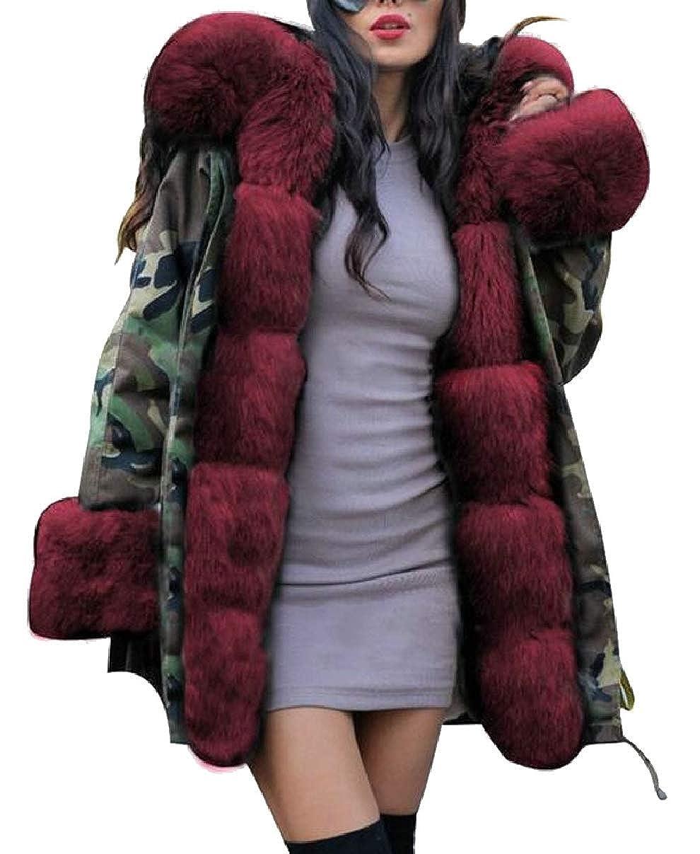 2 LEISHOP Women Winter Warm Hood Parka Overcoat Jacket Outwear