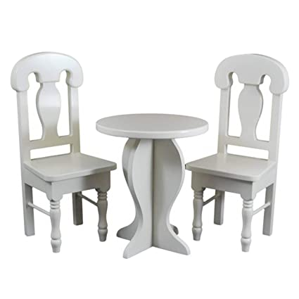 Strange The Queens Treasures 18 Inch Doll Cafe Doll Table And Two Chair Set Compatible With 18 Inch American Girl Doll Kitchen Furniture Accessories This Machost Co Dining Chair Design Ideas Machostcouk