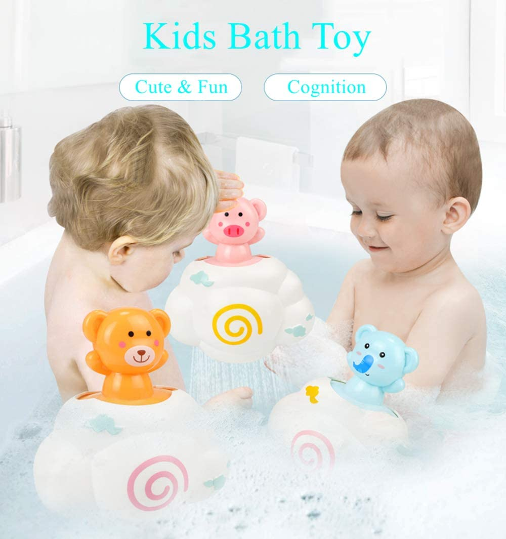 LUCKAPPY Best Squirting Baby Bath Toys-Fun Egg Hatching Spray Water Bathtub Pool Toys for Toddlers,Boys Duck Kids Girls