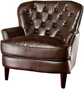 Christopher Knight Home Tafton Tufted Leather Club Chair