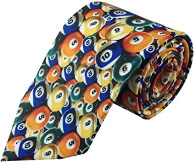 Multi Color bolas de billar Necktie: Amazon.es: Ropa y accesorios