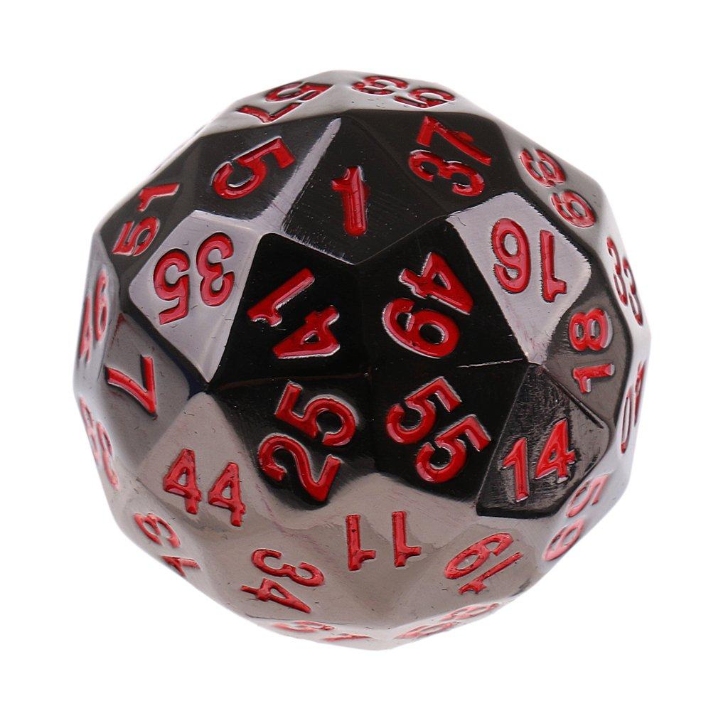 60 seitige W/ürfel # 1 Baoblaze D60 Sixty-Sided Polyhedral Dice