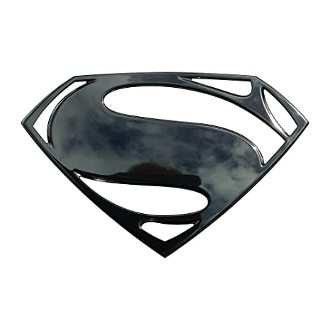 Amazon Com Fan Emblems Superman Logo 3d Car Emblem Black Chrome