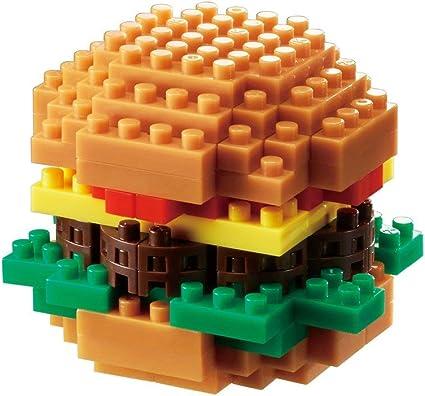 japan building toy block NEW NBC/_217 Worldwide Kawada nanoblock Mini Hamburger