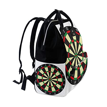 96c838e2832d Amazon.com : Darts Game Diaper Bag Mummy Dad Tote Backpack Travel ...
