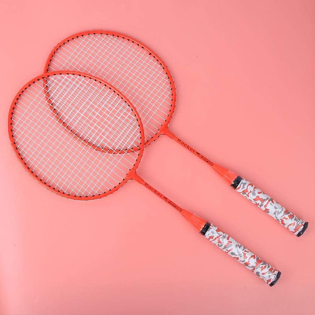 Outdoor Indoor Kids Sport Game Badminton Rackets Set with 2 Balls Vbest life 1 Pair Children Badminton Racquets Set