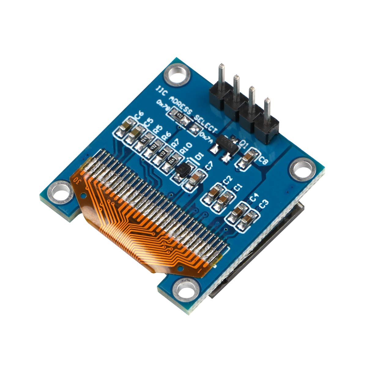 4pcs I2C OLED 0.96 Inch OLED Display Module IIC SSD1306 128 64 LCD White with Du-pont Wire 40-Pin Female to Female for Arduino UNO R3 STM
