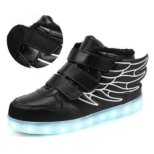 LED con Luci Sneakers Bright Light USB 7 Colori Bambino Scarpe Lampeggiante bambini Ragazzi Ragazze Regalo Natale 9dMGv2QcE