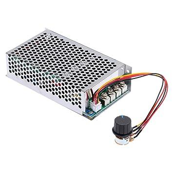 KKmoon 10-30V 80A 2400W Controlador de Velocidad de PWM DC Motor del Cepillo Ajustable Regulador Modulador de Ancho de Pulso: Amazon.es: Electrónica