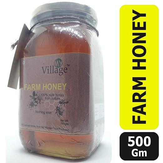 My Village Raw Honey / 100% Natural and Pure Farm Honey (500 gm)