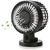 CYCLETRACK USB扇風機 卓上 扇風機 風量2段階調節 三十度角度調整可能 静音 ミニ扇風機 (ブラック)
