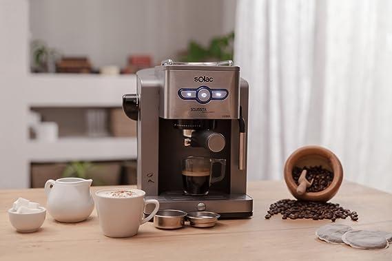 Solac New Squissita Intelligent-Cafetera (19 Bar de presión, Control electrónico, Bandeja calienta Tazas), Plata, 0 Decibeles: Solac: Amazon.es: Hogar