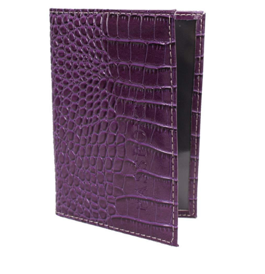 HhGold Porte-Portefeuille en Cuir de Crocodile de Grande capacité Multifonctions Porte-Cartes de Poche (coloré : Violet)