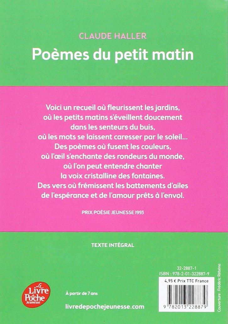 Poèmes Du Petit Matin Livre De Poche Jeunesse Amazones