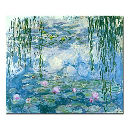 - Wieco Art Water Lilies Giclee Canvas Prints Wall Art by Claude Monet Famous Oil Paintings Flowers Reproduction Modern Clsssic Landscape Artwork Picture Printed on Canvas for Home Office Decorations