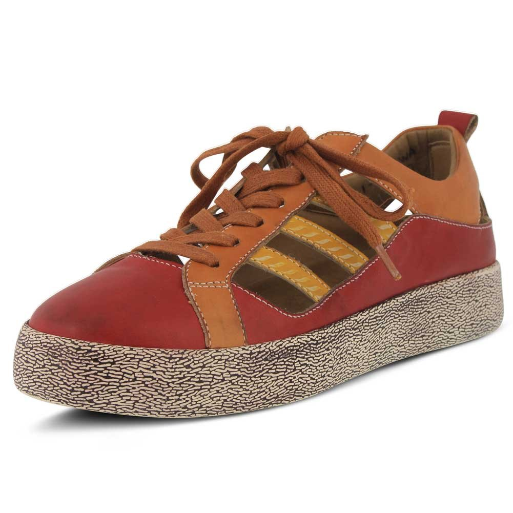 L`Artiste Womens Porscha Sneaker B079C2N3QC 36 M EU|Red Multi Leather