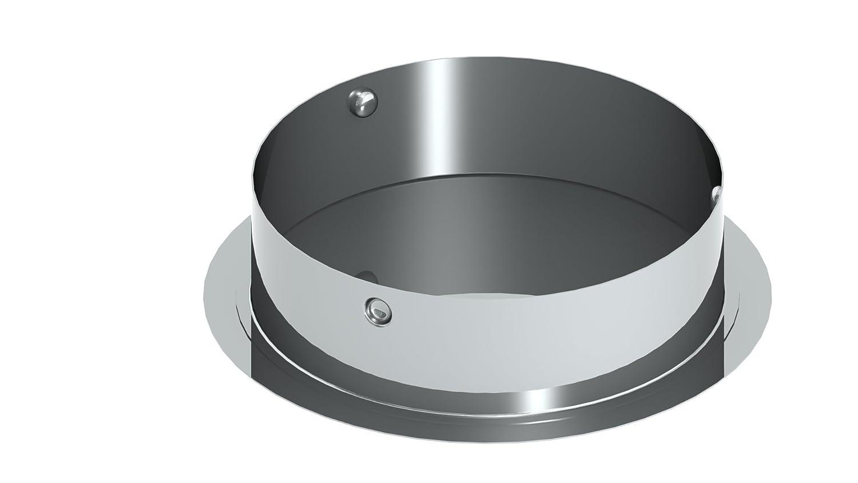 Schornstein Blinddeckel f/ür Wandfutter 0,6mm Wandst/ärke 130mm Durchmesser Edelstahl