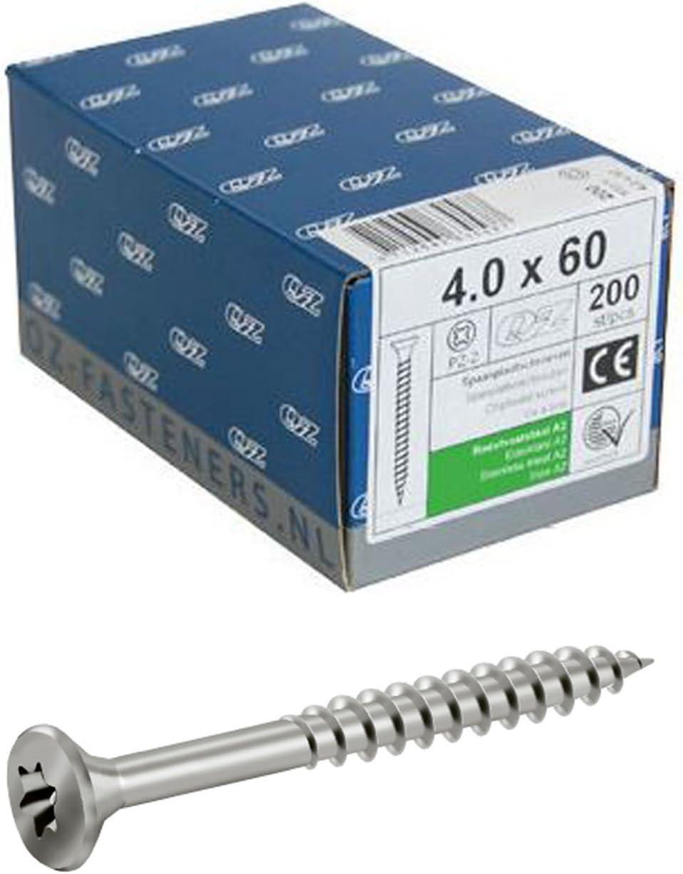 5/x 90/mm 600/pi/èces Vis Torx filetage partiel T/ête frais/ée agglom/ér/é A2/Vis /à bois en acier inoxydable V2/A
