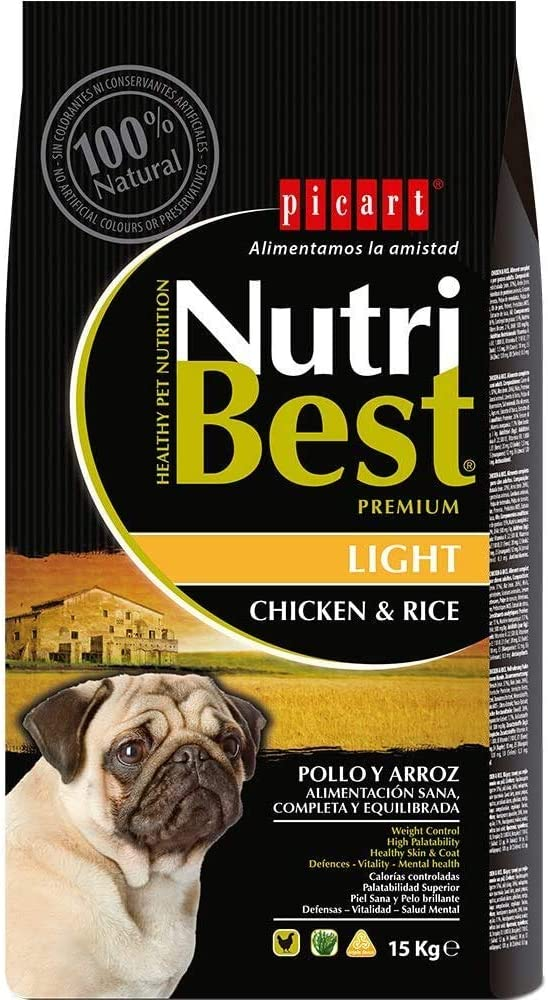 Nutribest Dog Adult Light 15K 15000 g
