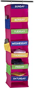 Sagler Daily Activity Organizer Kids 7 Shelf Portable Closet Hanging Closet Organizer Great Closet Solutions