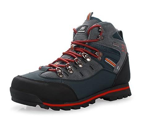 LUCKY-U Zapatos De Trekking, Hombre Nevada Totalmente Impermeables para Caminar/Caminar Zapatos