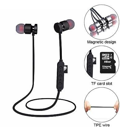 ee9aef7000a KOBWA Wireless Bluetooth Headphones,Lightweight Ear Magnetic Headphones  Waterproof Running Headphones Support Micro SD/