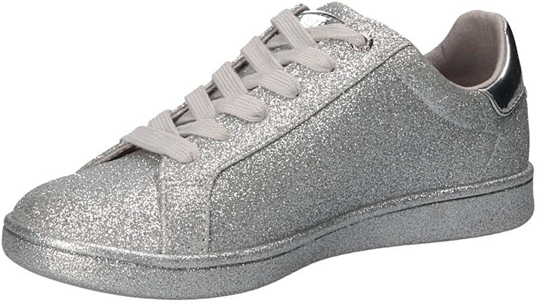Guess Baysic Sneaker Glitter Silver FLBYC1ELE12 (40): Amazon