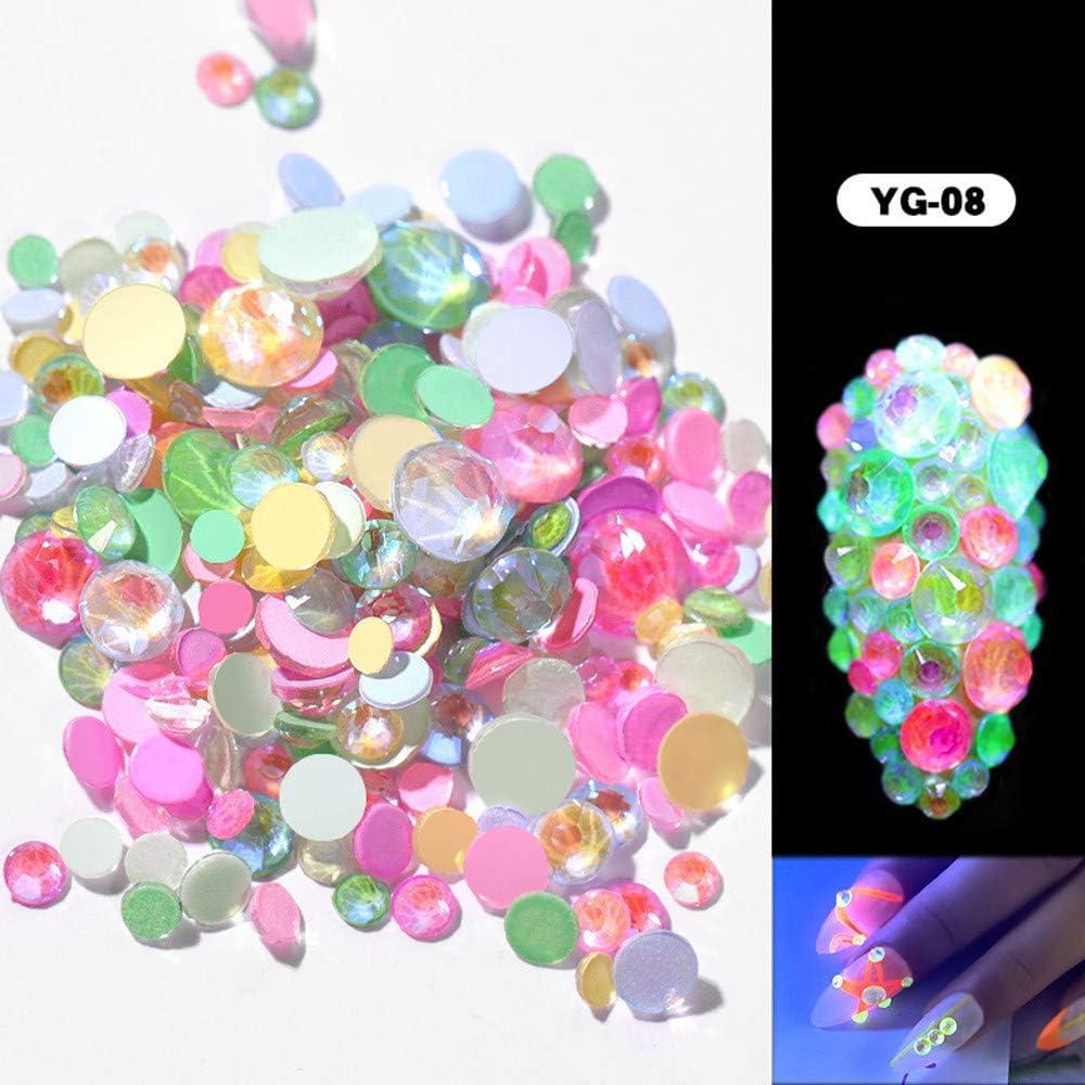 3D Pedrería Tamaños Mezclados De Uñas DecoracióN, Decoraciones De ...