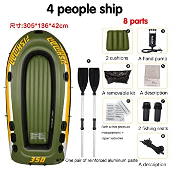 M&Z: 1 Pieza 4 Personas Kayak Grueso de Goma Barcos ...