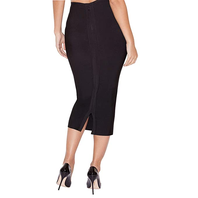 Availcx-Sexy Long Skirt Falda lš¢PIZ a Media Pierna para Mujer ...