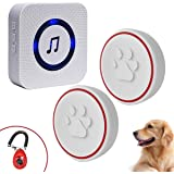 ChunHee Dog Bell for Potty Training Wireless Doggie Door Bell for Dog Puppy Training Sliding Door/Go Outside Doorbell and Wat