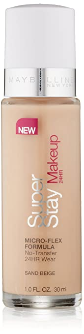 Amazon.com : Maybelline New York Super Stay 24Hr Makeup, Sand ...