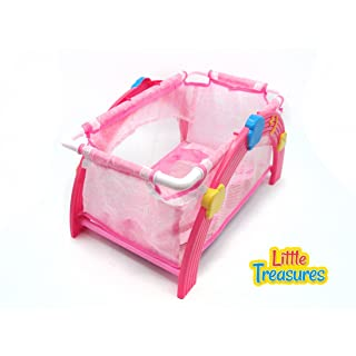 Best choice Baby doll with cradle - crib furniture set - the set includes a crib baby doll pillow and blanket - great toy for your little mothers helper!